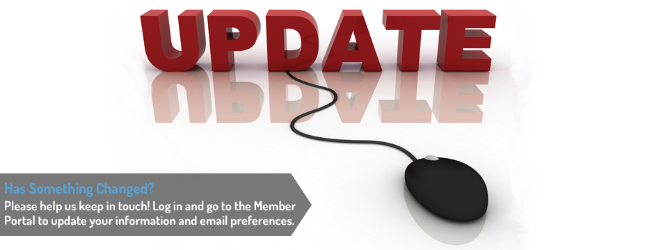 Please update your profile in the Member Portal