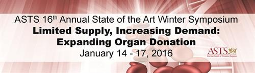 2016 Winter Symposium:  Limited Supply, Increasing Demand: Expanding Organ Donation