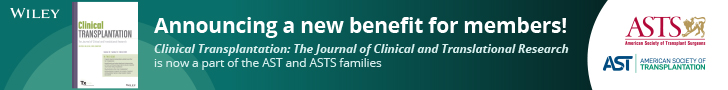Clinical Transplantation: a new member benefit
